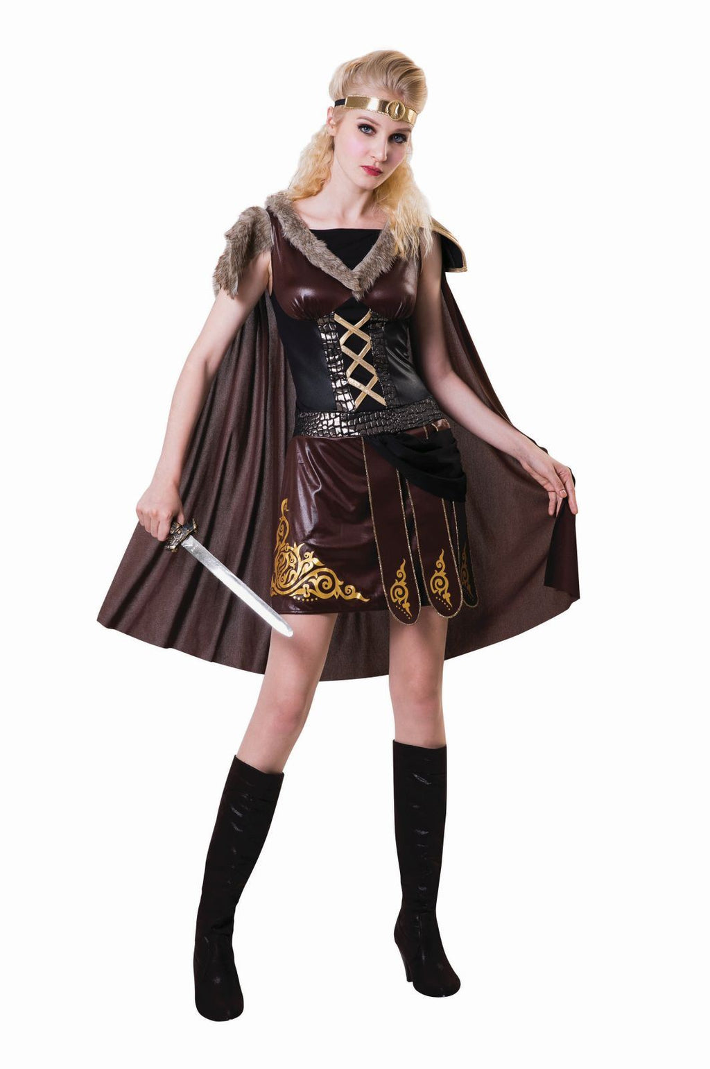 Medieval Warrior Lady Brown