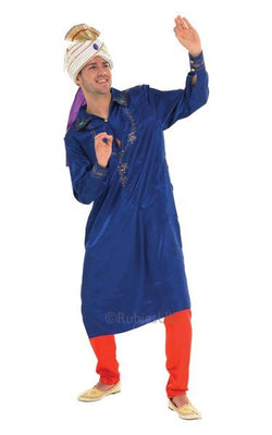 Bollywood Man Fancy Dress Costume Blue