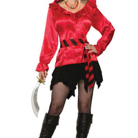 Pirate Lady Red Blouse