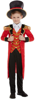 Ringmaster Boys Deluxe Fancy Dress Costume Greatest Showman Outfit