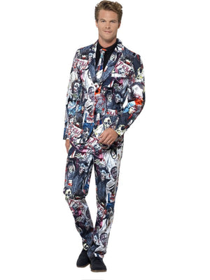 Men's Zombie Suit Fancy Dress Costume