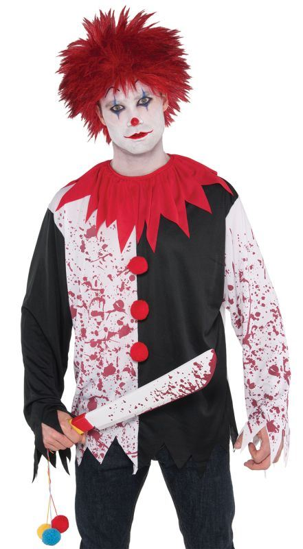 Evil Clown Shirt Fancy Dress Costume