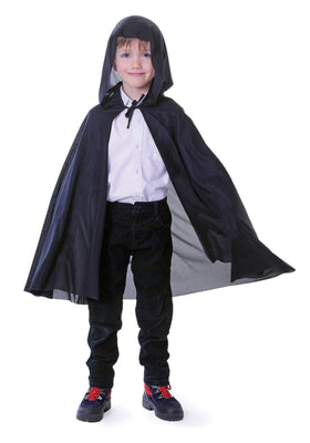 Childs Hooded Cape Black