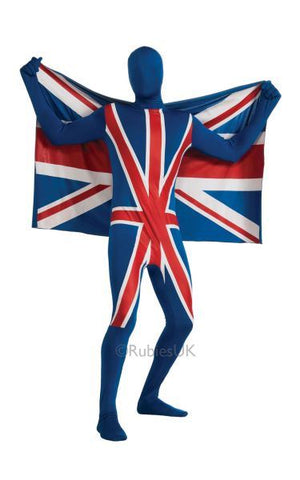 2nd Skin Union Jack Fancy Dress Costume