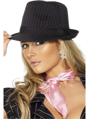 Gangster Fancy Dress Hat Pinstripe