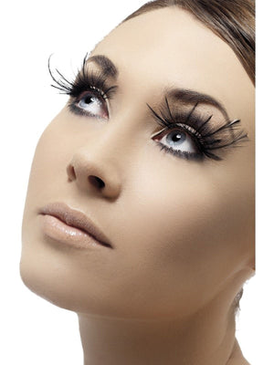 Eyelashes - Black with Plumes