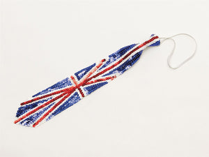 Union Jack Sequin Long Tie