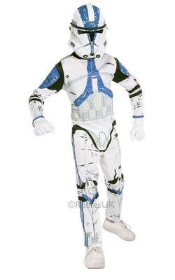Childs Clone Trooper Fancy Dress Costume