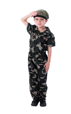 Soldier Army Boy's Fancy Dress Costume