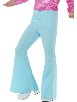 Flared Trousers Blue Mens Fancy Dress Costume