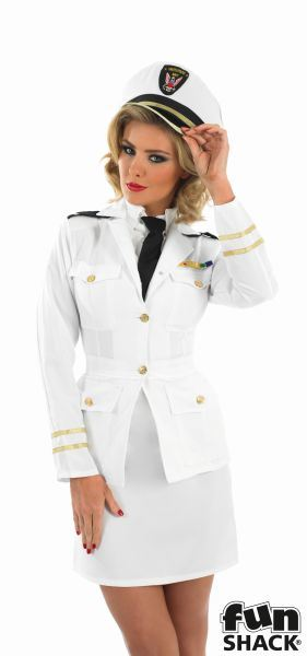 40s Lady Naval Officer Fancy Dress Costume