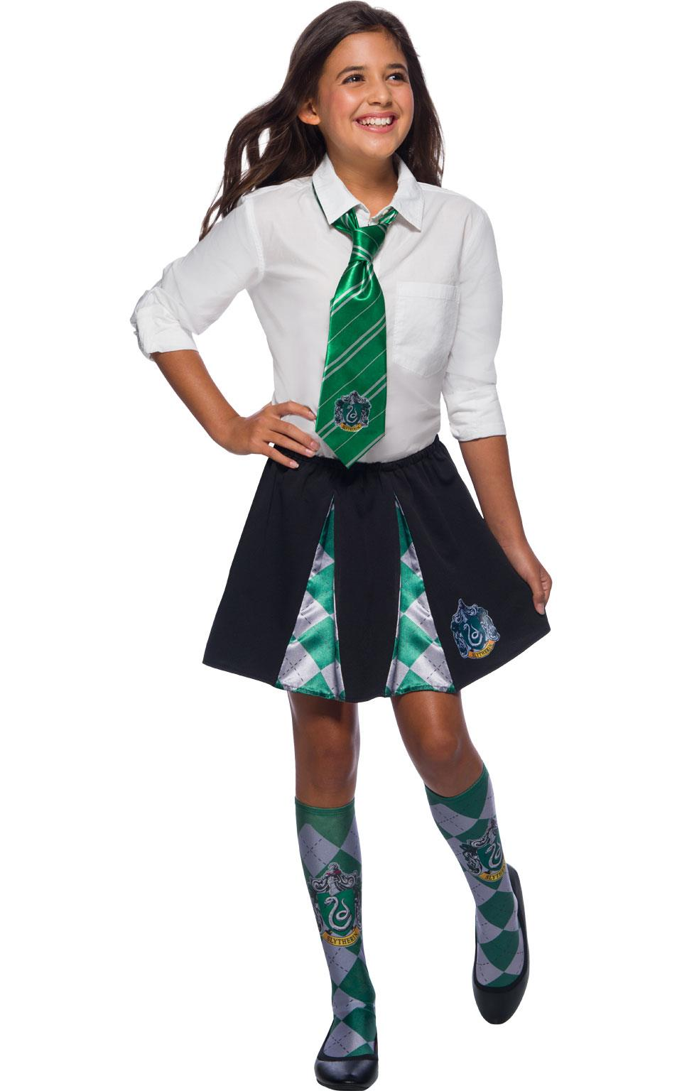 Slytherin Skirt Harry Potter Book Week Fancy Dress Licensed