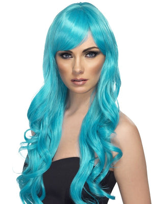 Desire Fancy Dress Wig, Aqua