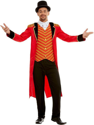 Ringmaster Mens Deluxe Fancy Dress Costume Greatest Showman Outfit