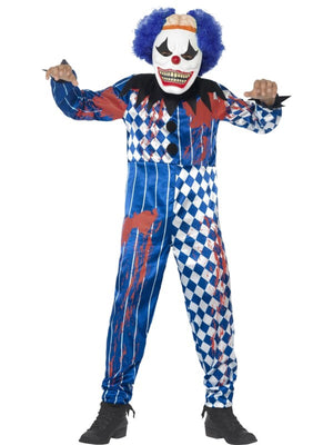 Deluxe Sinister Clown Costume, with Jumpsuit