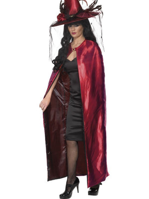 Red and Black Reversible Cape