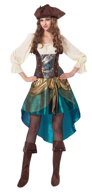 Women's Deluxe Pirate Princess Fancy Dress Costume