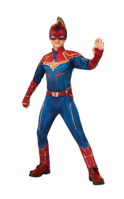 Captain Marvel Girls Deluxe Costume