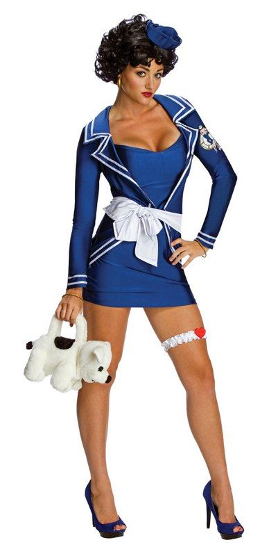 Betty Boop Sailor Fancy Dress Costume