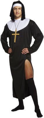 Nun Male Fancy Dress Costume