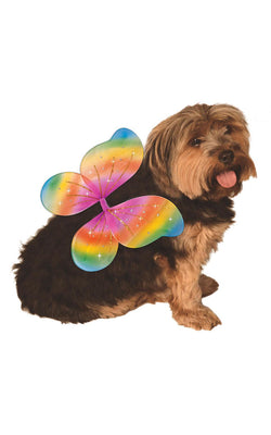 Rainbow Fairy Wings Dog Fancy Dress Costume Outfit