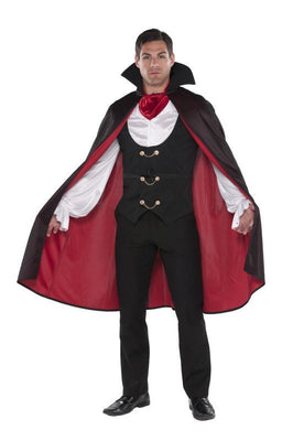 Mens True Vampire Fancy Dress Costume