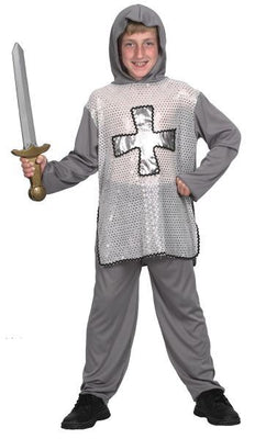 Silver Knight Boy's Costume