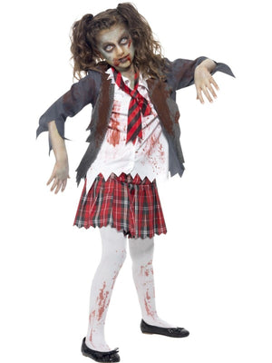Childs Zombie School Girl Costume