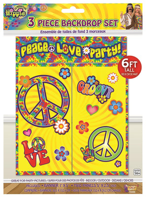 Hippie Decor-Backdrop Set/3pc/6 Tall