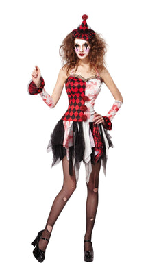 Jester Lady Scary Costume