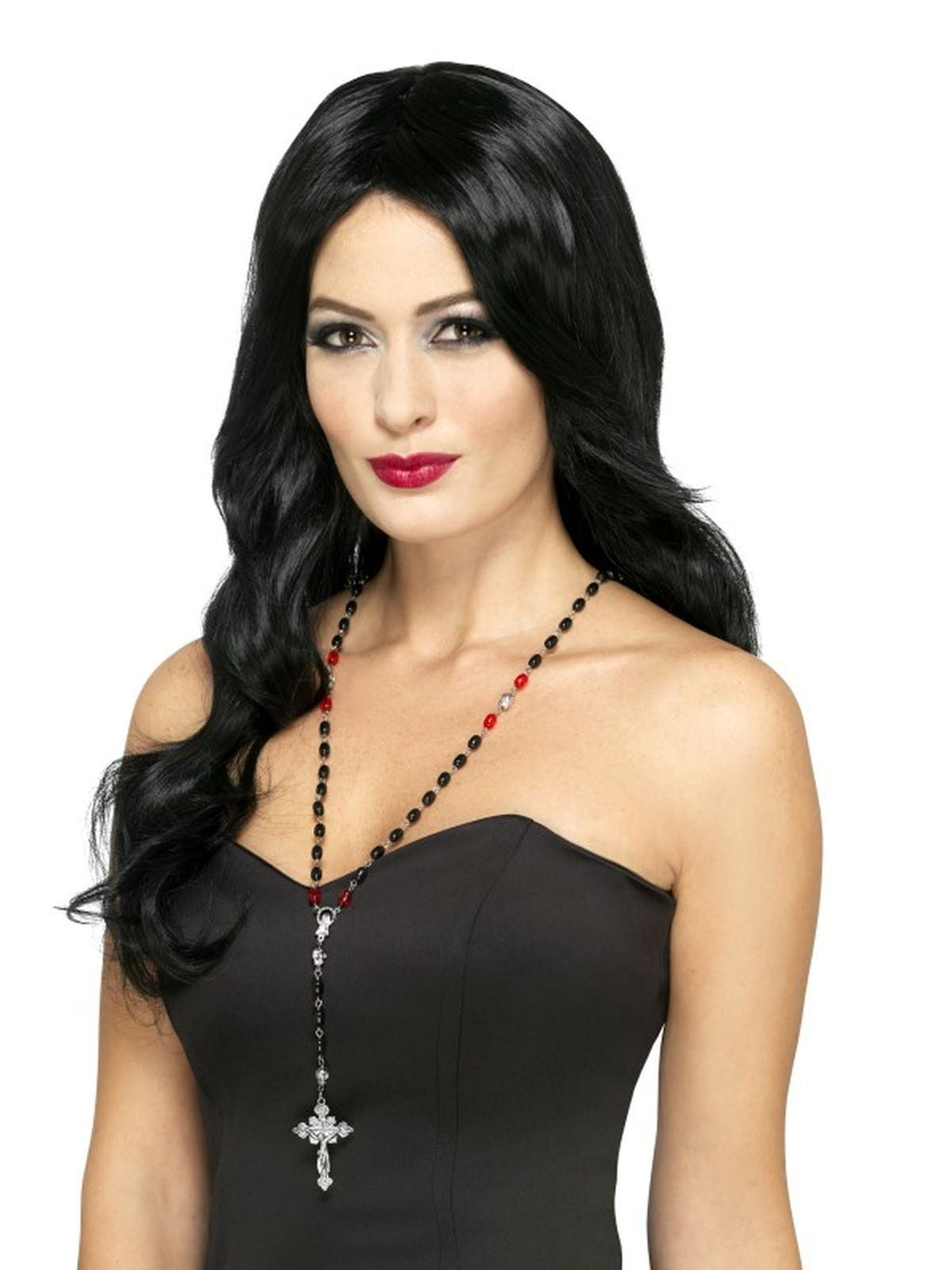 Gothic Vampire Rosary Bead Necklace