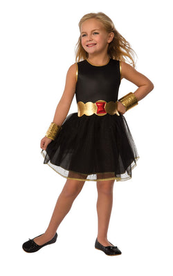 Girl's Black Widow Tutu Fancy Dress Costume