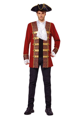 Pirate Coat Red Men's Costume