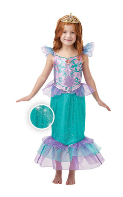 Ariel Girls Disney Princess Fancy Dress Costume Glitter And Sparkle