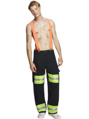 Male Firefighter Fancy Dress Costume