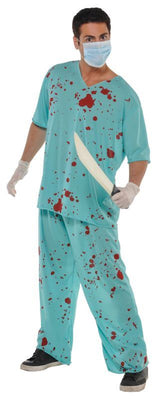 Bloody Unisex Scrubs Fancy Dress Costume