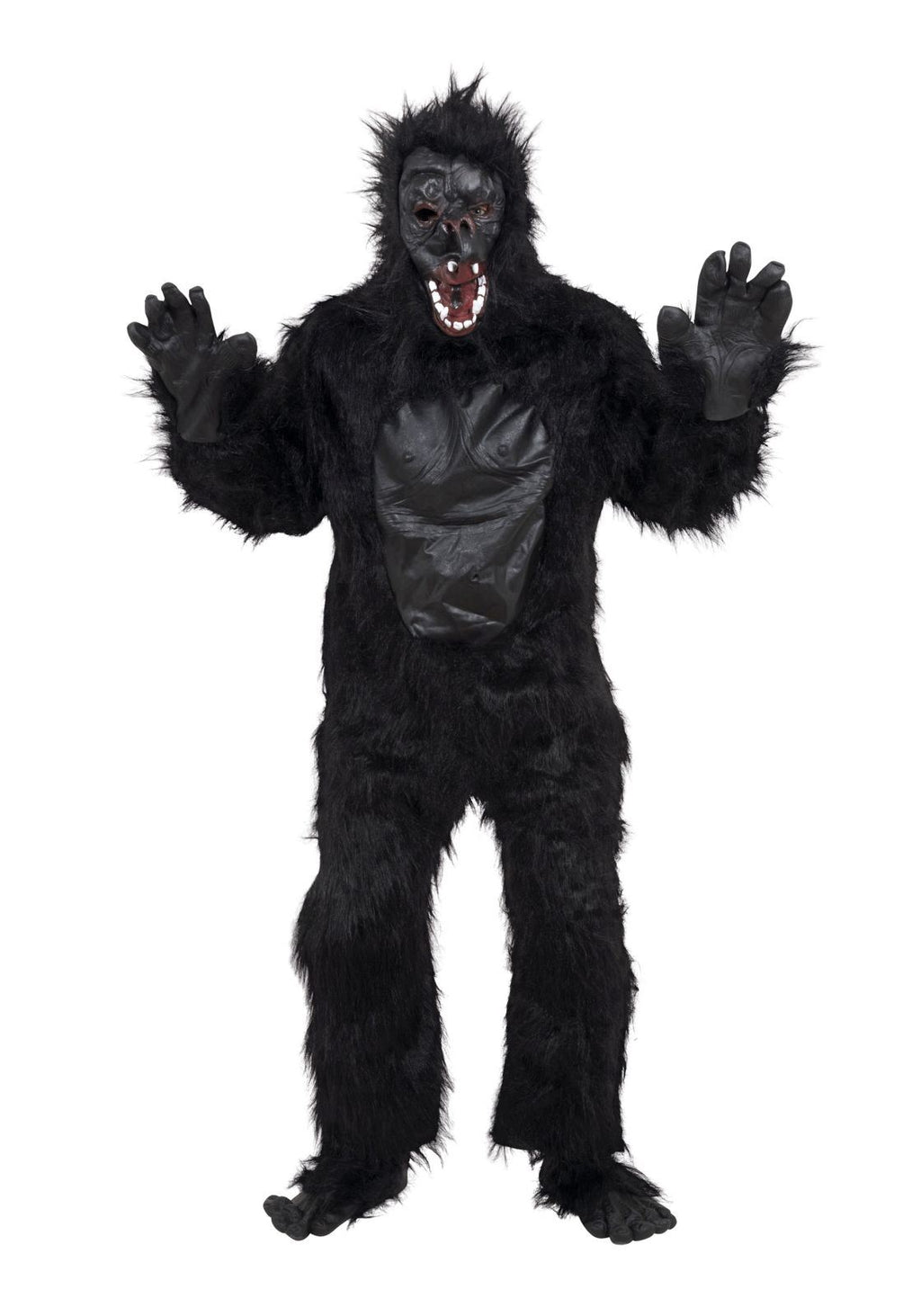 Adult Gorilla Costume with  Rubber Chest