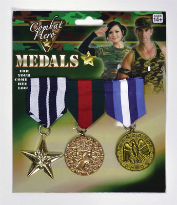 Military Medals (3 Pieces)