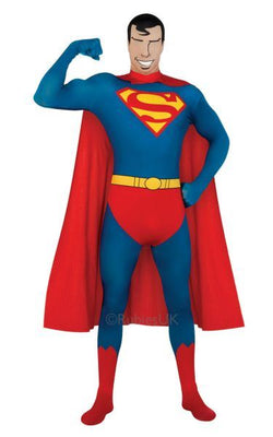 2nd Skin Superman Fancy Dress Costume