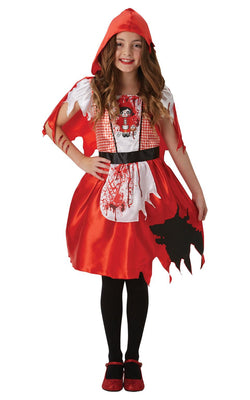 Girls Halloween Fancy Dress Red Rose Day Of The Dead Costume