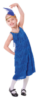 Childs Blue Flapper Dress Costume