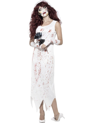 Women's Zombie Bride Fancy Dress Costume