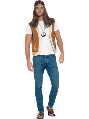 Hippie Waistcoat Unisex Fancy Dress Costume