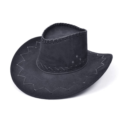 Cowboy Hat. Stitched Black