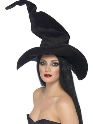 Witch Fancy Dress Hat Black Twisty