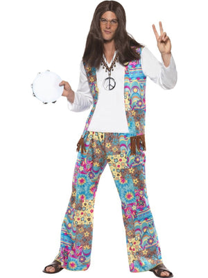 Mens Hippie Fancy Dress Costume