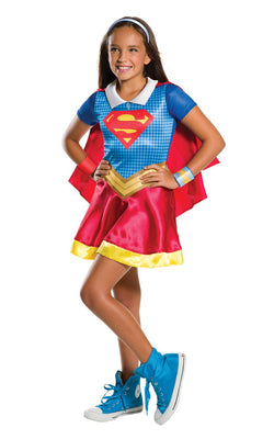 Girl's DC Hero Supergirl Fancy Dress Costume