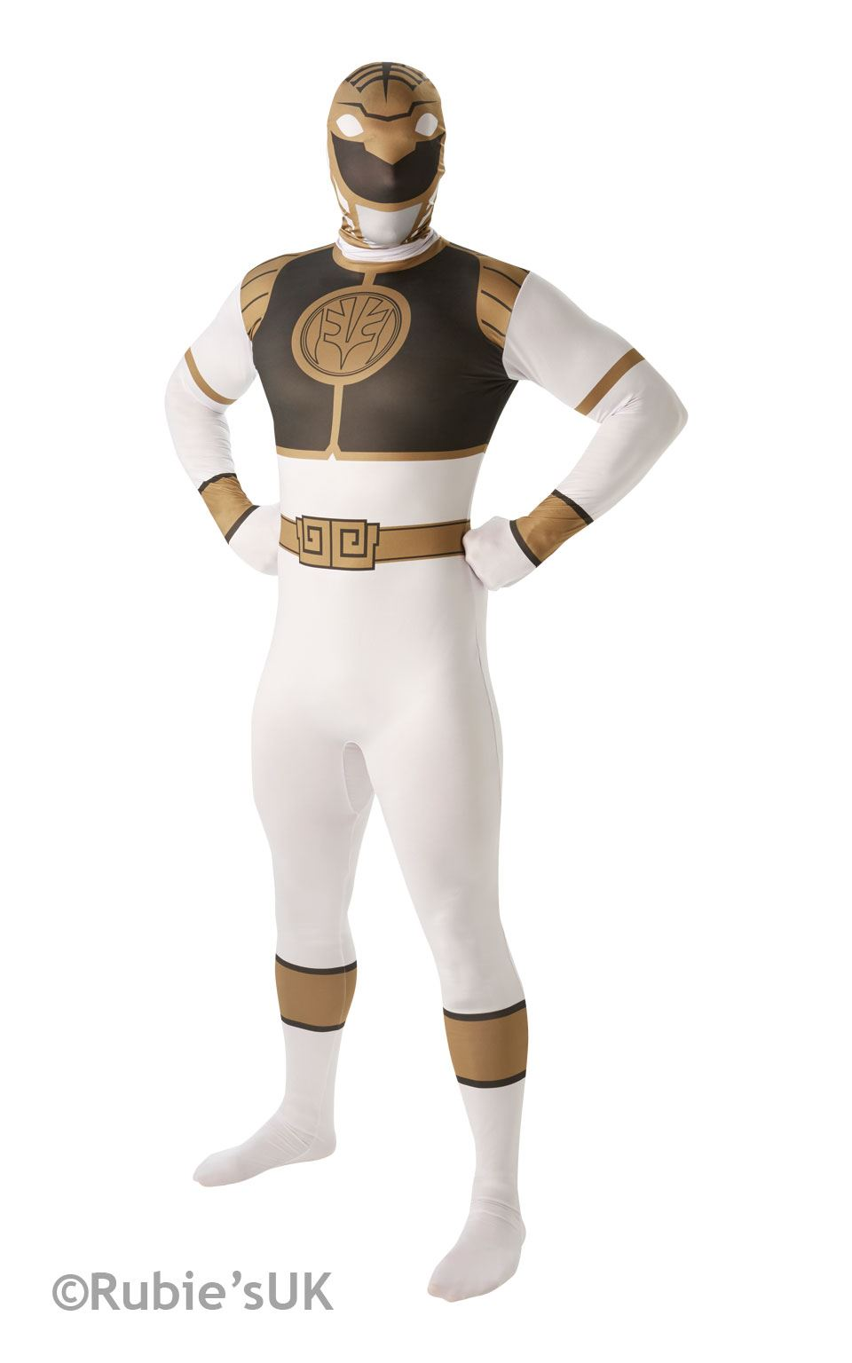 Power Ranger White 2nd Skin Fancy Dress Costume