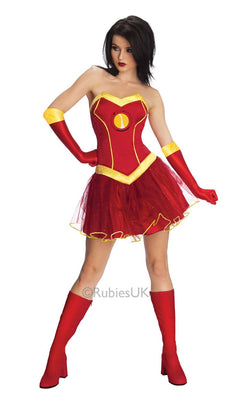 Womens Marvel Ironman Rescue Fancy Dress Costume Pepper Potts