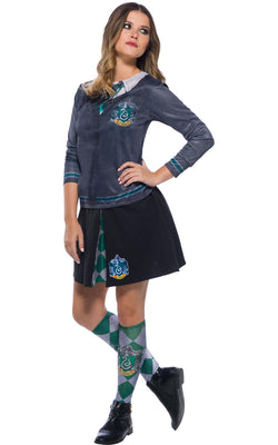 Slytherin Harry Potter Womens Fancy Dress Costume Book Week Outfit Top